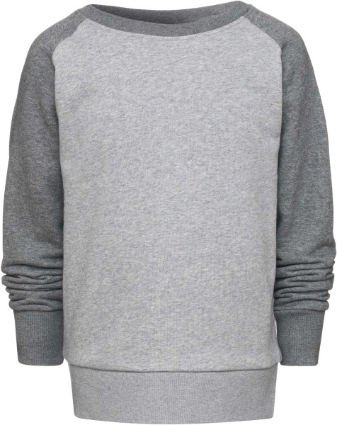 Unisex Kinder Sweatshirt Bio-Baumwolle - grau-meliert