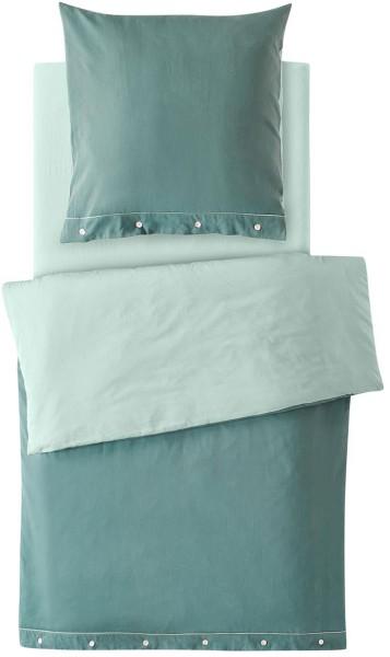 Satin-Bettwäsche-Set aus Bio-Baumwolle 135x200cm - jade