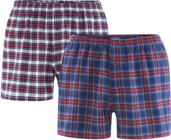 Boxer-Shorts aus Bio-Baumwolle - Doppelpack – tartan