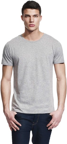 Unisex Slim-Cut T-Shirt melange grey - Bild 1