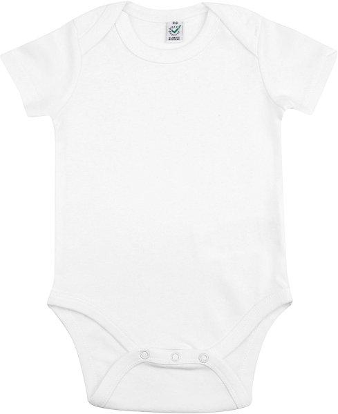 Baby kurzarm Body aus Bio-Baumwolle - white - Bild 1