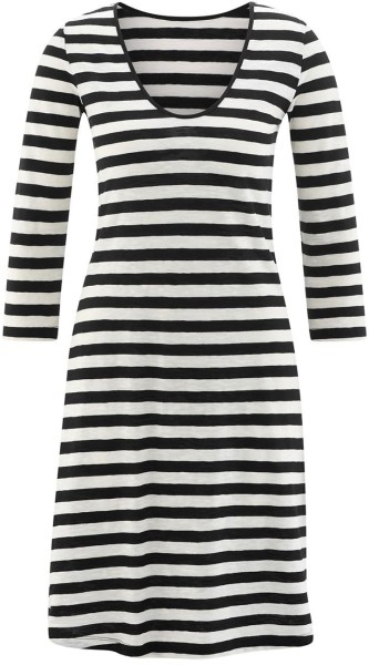 Kleid mit 3/4-Arm  Bio-Baumwolle - black/cream