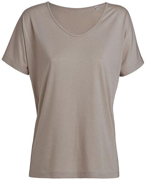 Designs Tencel - Weites V-Neck T-Shirt - sand - Bild 1