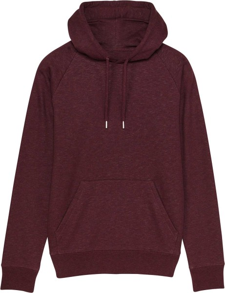 Raglan-Hoodie aus Bio-Baumwolle - heather grape red