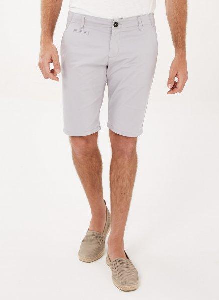 Slim Fit Shorts aus Bio-Baumwolle - grey