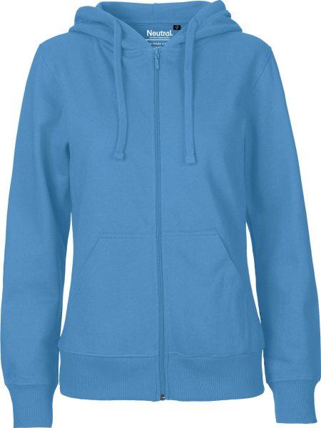 Zip-Up Hoodie aus Fairtrade Bio-Baumwolle - dusty indigo