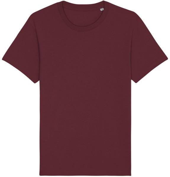 Basic T-Shirt aus Bio-Baumwolle - burgundy