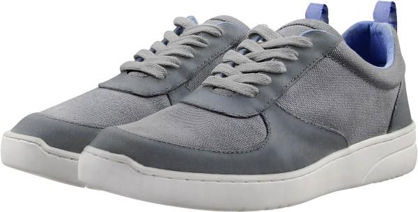Herren Fairtrade Sneaker aus Leder und Bio-Baumwolle - grau
