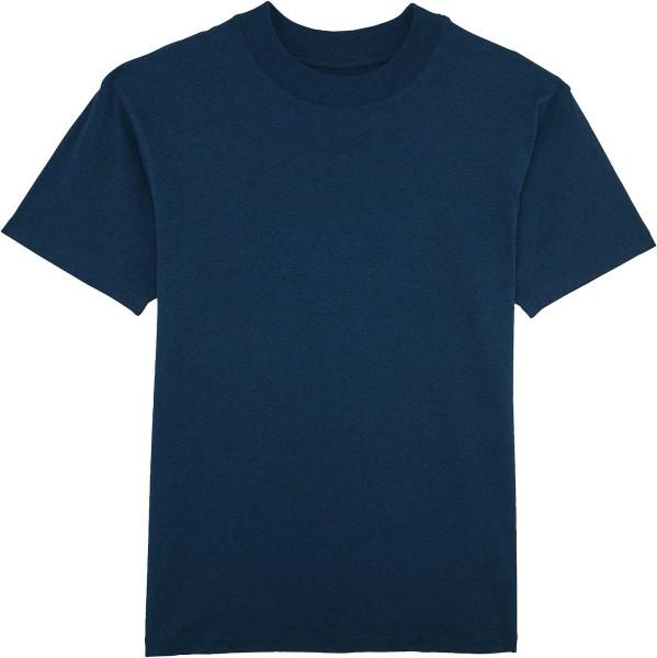 T-Shirt mit hohem Halsabschluss - black heather blue