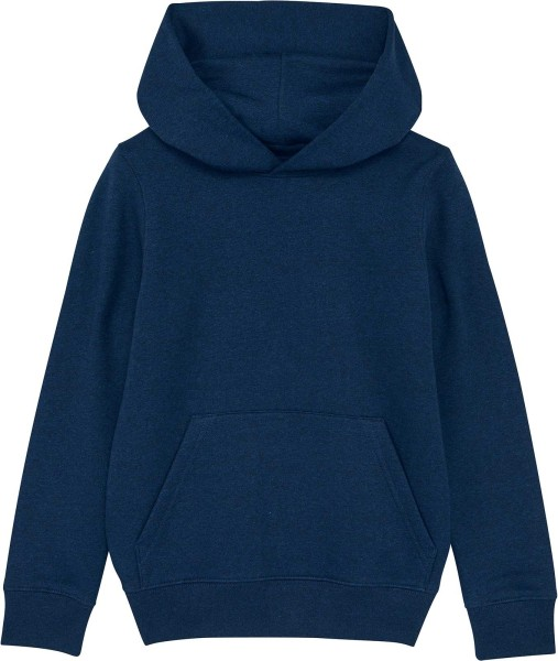 Kinder Hoodie aus Bio-Baumwolle - black heather blue