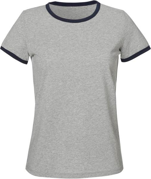 Returns - Ringer T-Shirt aus Bio-Baumwolle - heather grey/navy - Bild 1
