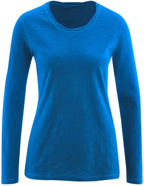 Longsleeve aus Bio-Baumwolle - royal blue