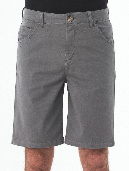Regular Fit Shorts aus Bio-Baumwolle - shadow