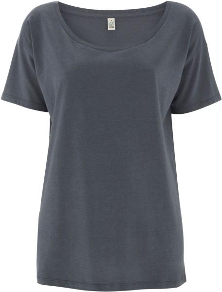 Damen Oversized T-Shirt charcoal Tencel EP46