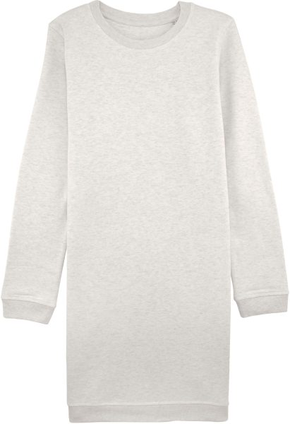 Sweatshirtkleid aus Bio-Baumwolle - cream heather grey