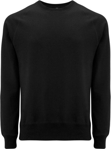 Recycled Unisex Sweatshirt Baumwolle und Polyester - black