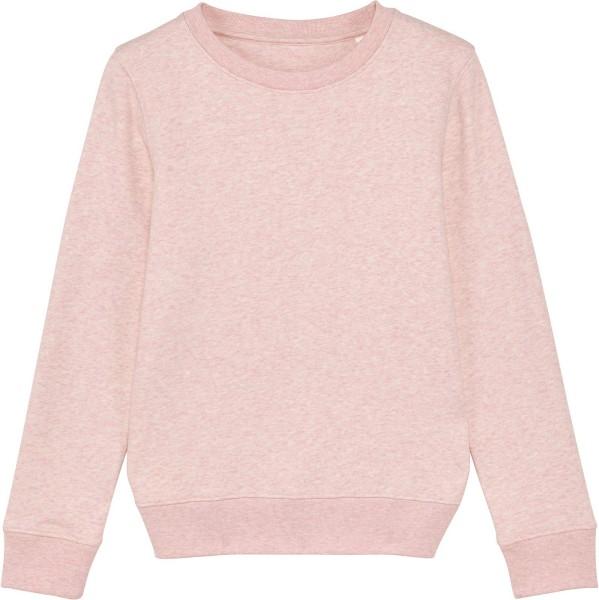 Kinder Sweatshirt aus Bio-Baumwolle - cream heather pink