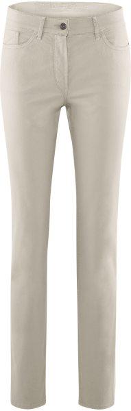 5-Pocket-Damenhose aus Bio-Baumwolle - stone