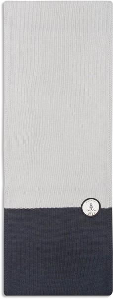 Strickschal aus Bio-Baumwolle - grau