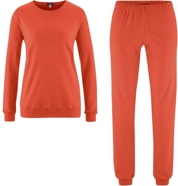Schlafanzug aus Bio-Baumwolle - red clay