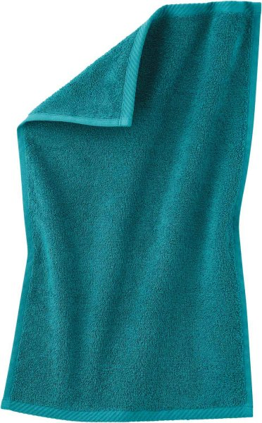 Gäste-Handtuch aus Bio-Baumwolle 30x50 cm - petrol