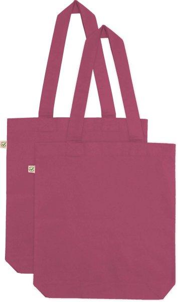 Doppelpack - Organic Cotton Bag - berry