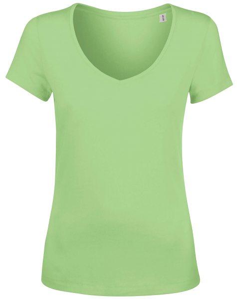 T-Shirt bio V-Neck gruen Stella Chooses