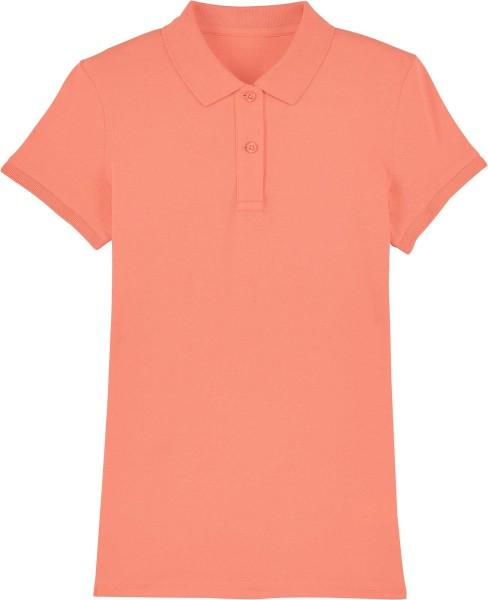 Piqué-Poloshirt aus Bio-Baumwolle - sunset orange