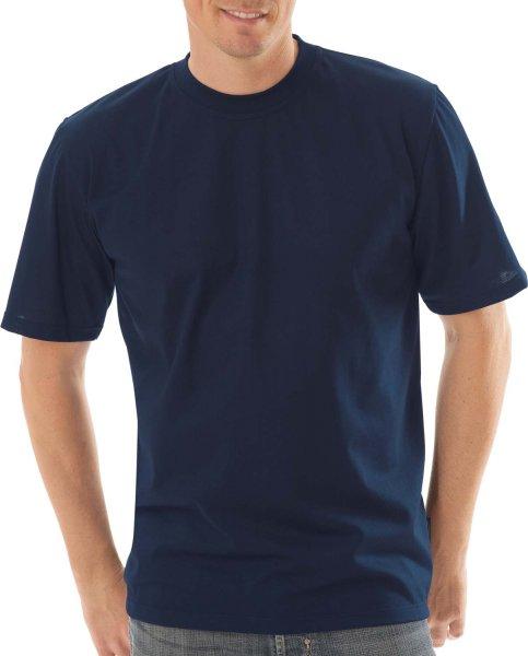 Klassisches T-Shirt aus Baumwolle - navy - Bild 1