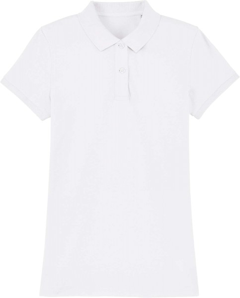 Piqué-Poloshirt aus Bio-Baumwolle - white