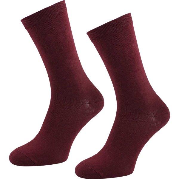 Socken aus Bio-Baumwolle - 2er Pack - bordeaux