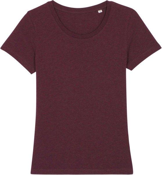 T-Shirt aus Bio-Baumwolle - heather grape red