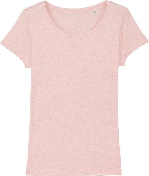 Jersey-Shirt aus Bio-Baumwolle - cream heather pink