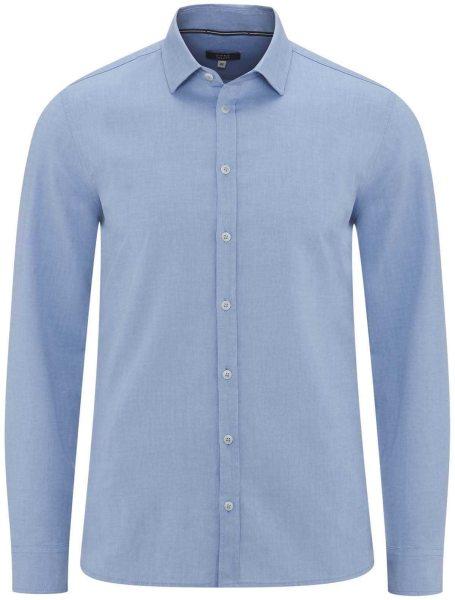 Hemd aus Bio-Baumwolle - bleu