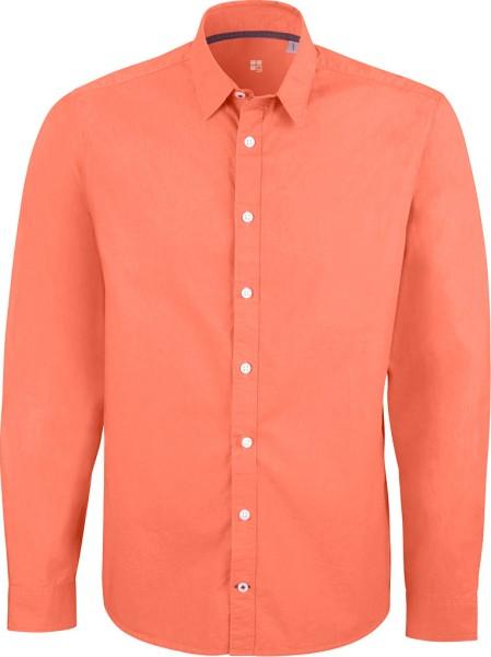 Herrenhemd aus Biobaumwolle - Apricot