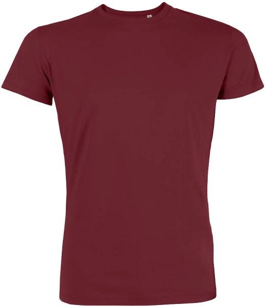Leads - Kurzarmshirt aus Bio-Baumwolle - burgundy