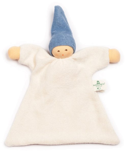Nuckel Schmusepuppe/Tuch aus Bio-Baumwolle - blau - Bild 1