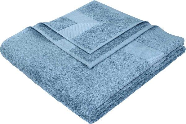 Badetuch aus Bio-Baumwolle - 70x140 denimblau - Bild 1