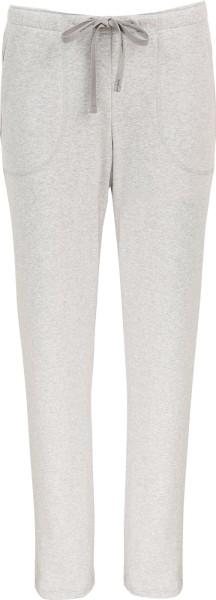 Lange Hose aus Biobaumwolle - grau-melange