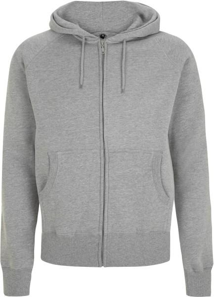 Zip-Jacke grau meliert Baumwolle N51Z