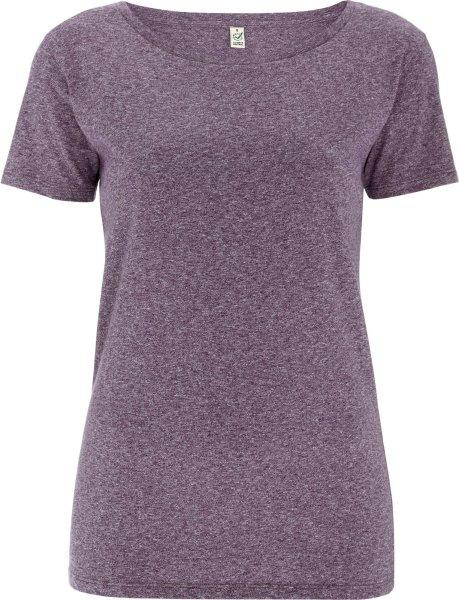 Special Yarn Effect T-Shirt - Biobaumwolle - wine twist - Bild 1