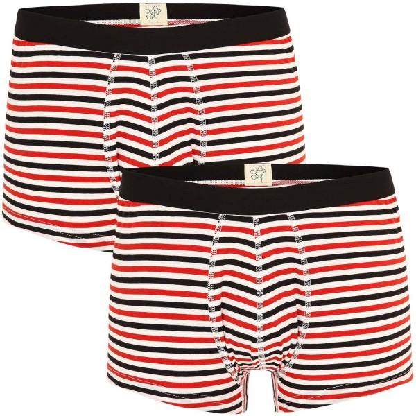 Trunk-Shorts aus Bio-Baumwolle - gestreift - Doppelpack