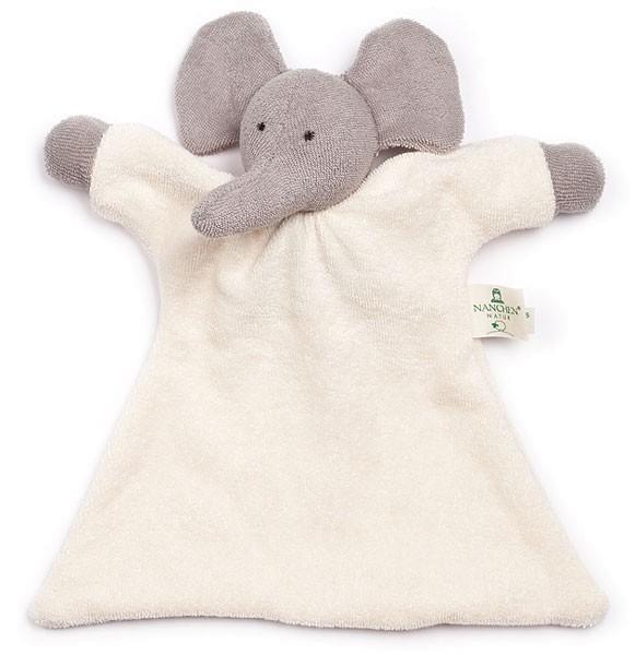 Nuckeltier Elefant Schmusepuppe/Tuch aus Bio-Baumwolle - Bild 1
