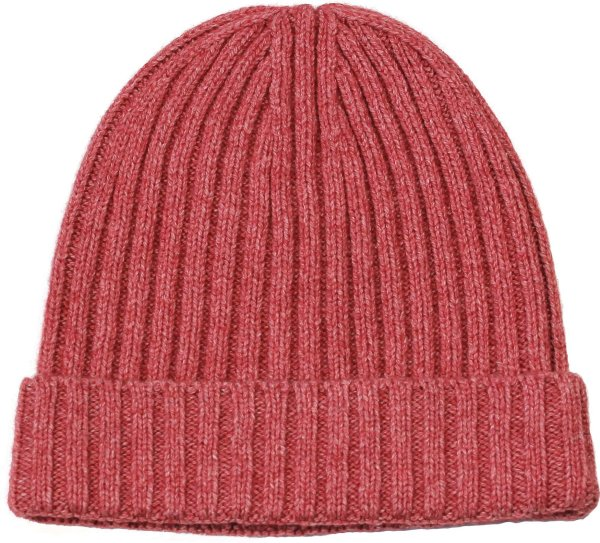 Mütze aus Bio-Merinowolle und Bio-Baumwolle - red