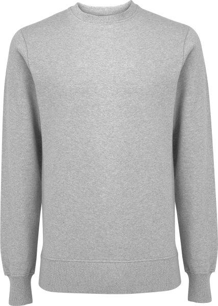 Unisex Sweatshirt aus Biobaumwolle - melange grey