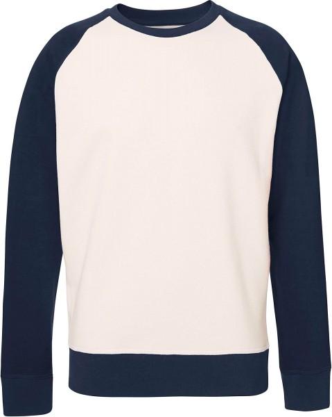 Recover - Baseball Sweatshirt Bio-Baumwolle - vintage white/navy - Bild 1
