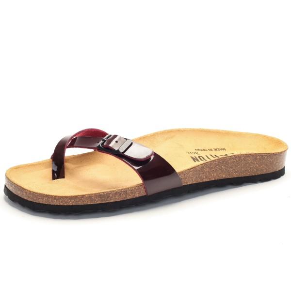 Sandale Zehentrenner bordeaux Plakton 101617