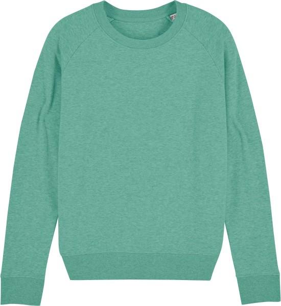 Sweatshirt aus Bio-Baumwolle - mid heather green