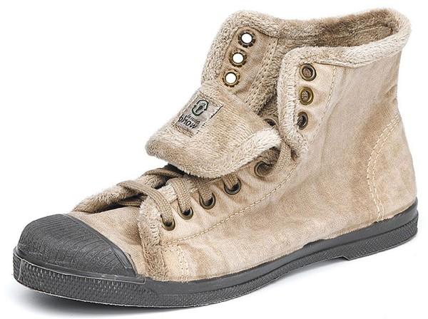 Bota Sport - Hohe Sneakers aus BioBaumwolle beige enzimatico - Bild 1