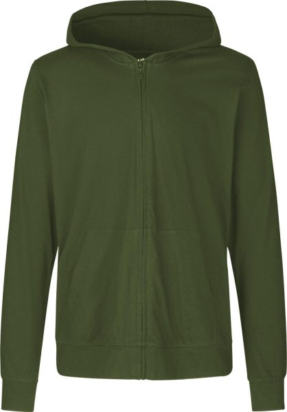 Jersey Zip Jacke military Biobaumwolle - O62301